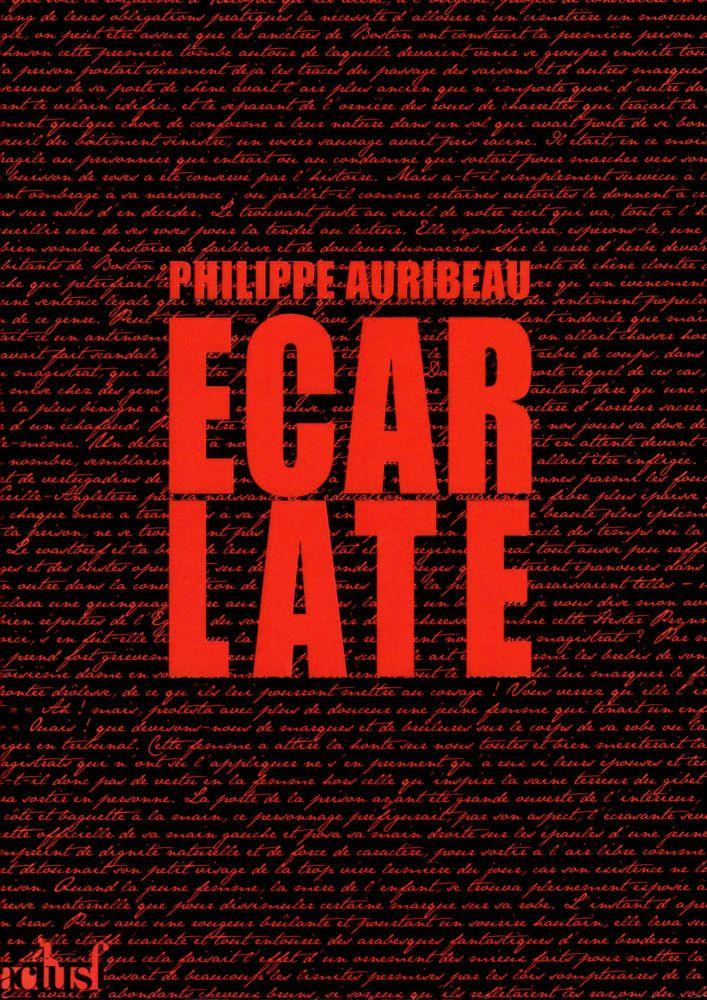 01 Philippe AURIBEAU, Écarlate (ActuSF)