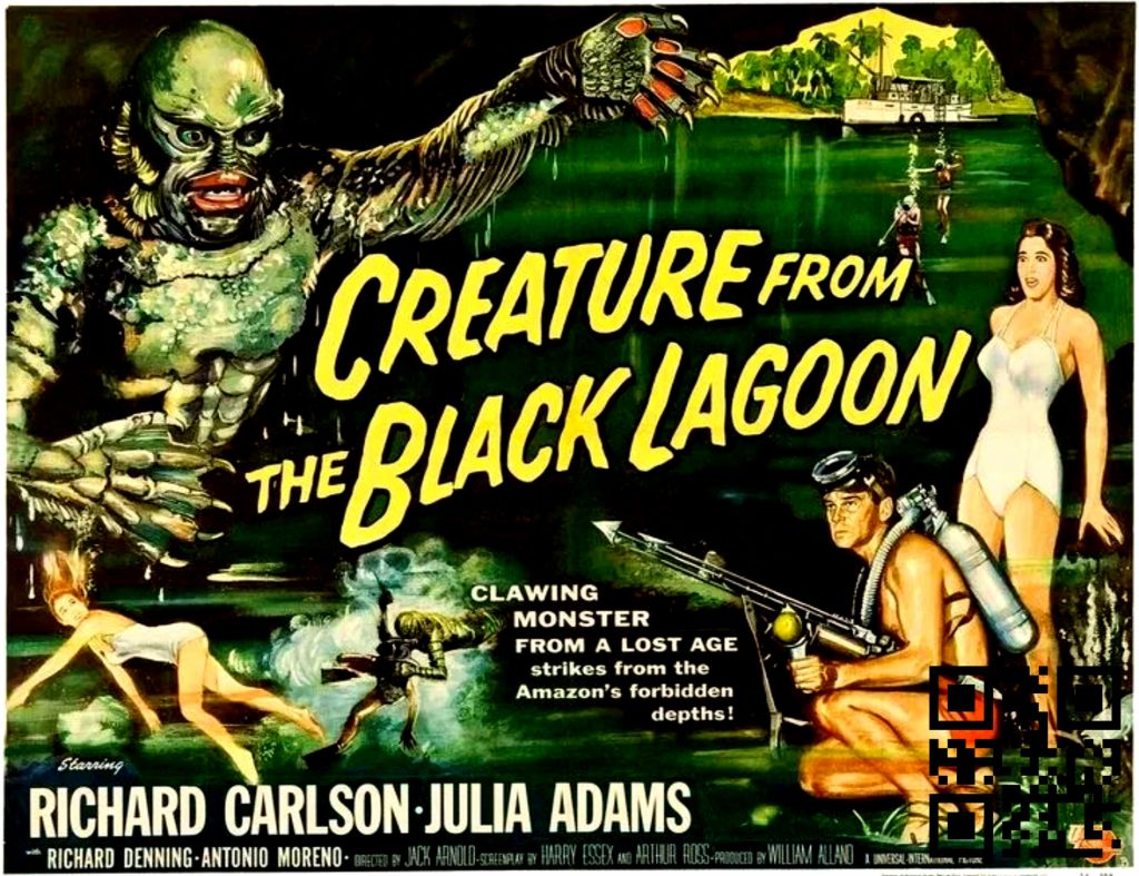 1954 Creature from the Black Lagoon afis de Reynold Brown